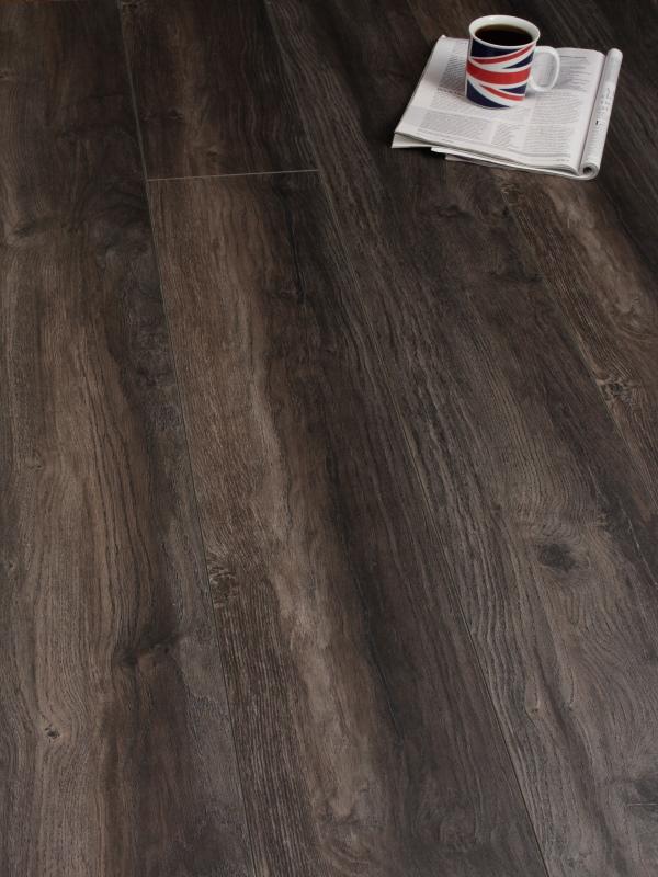 Kronotex 12mm harbour oak dark twenty 12 flooring for Kronotex laminate flooring installation